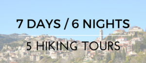 7 Days/6 Nights/5 Hiking Tours from € 420